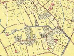 七軒町集落の復元地図